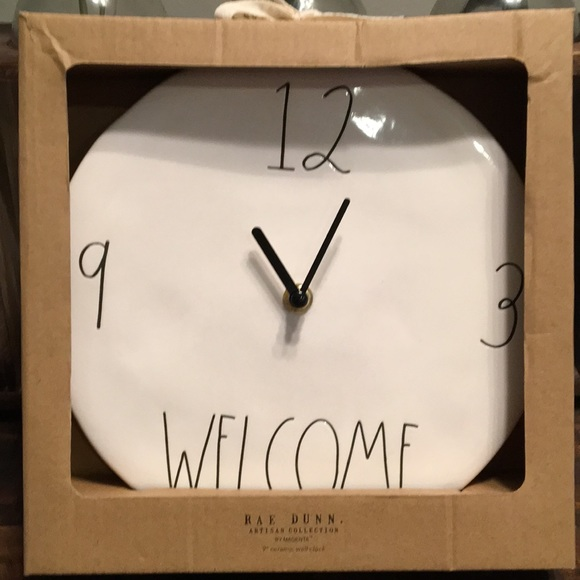 Rae Dunn Other - RAE DUNN Clock, New in box!🖤